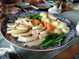春野菜のお皿